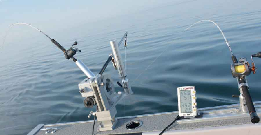 Saltwater Trolling Rod and Reel for Flatlining