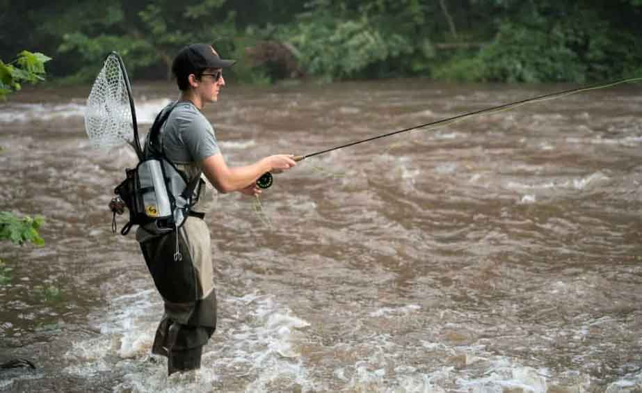 fly fishing fast moving water